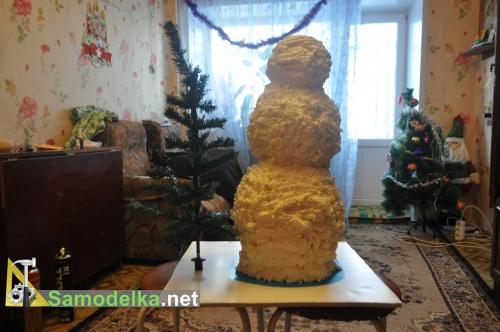 Как из монтажной пены сделать снеговика