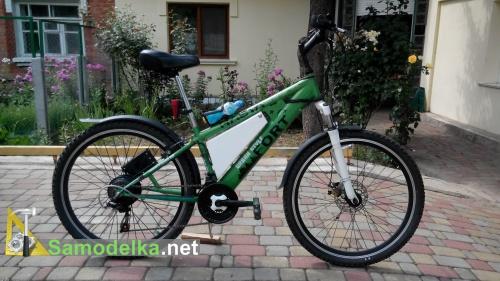 Электро велосипед переделан из обыкновенного