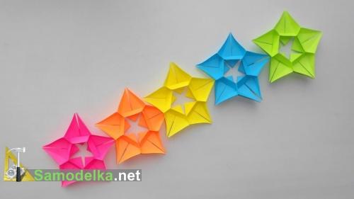 Оригами гирлянда из бумаги